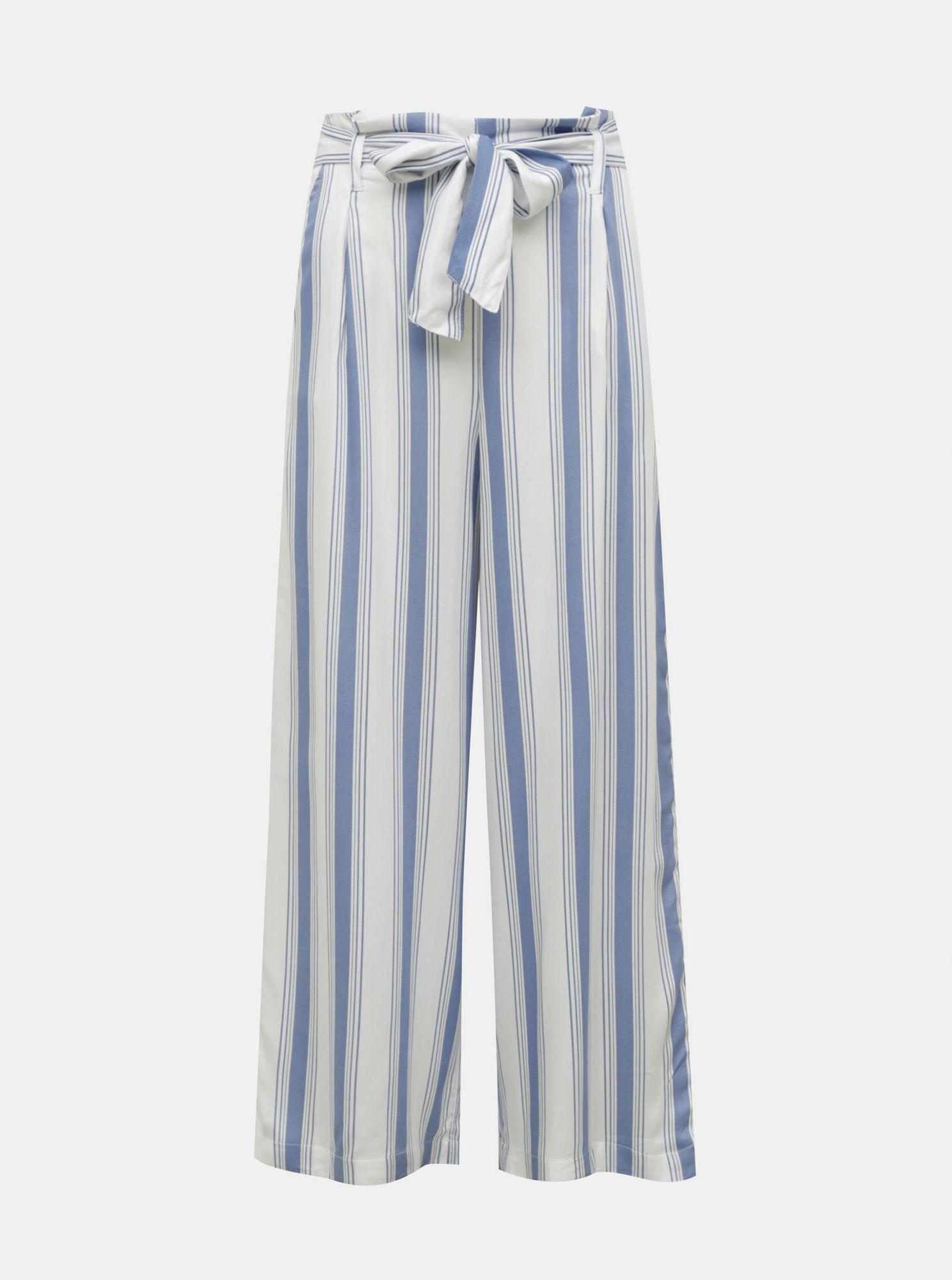 Modro-bílé pruhované kalhoty TALLY WEiJL