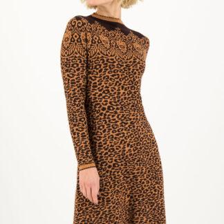 Blutsgeschwister leopardí zimní šaty Miss Leo