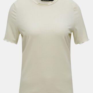 Krémové tričko VERO MODA Brea