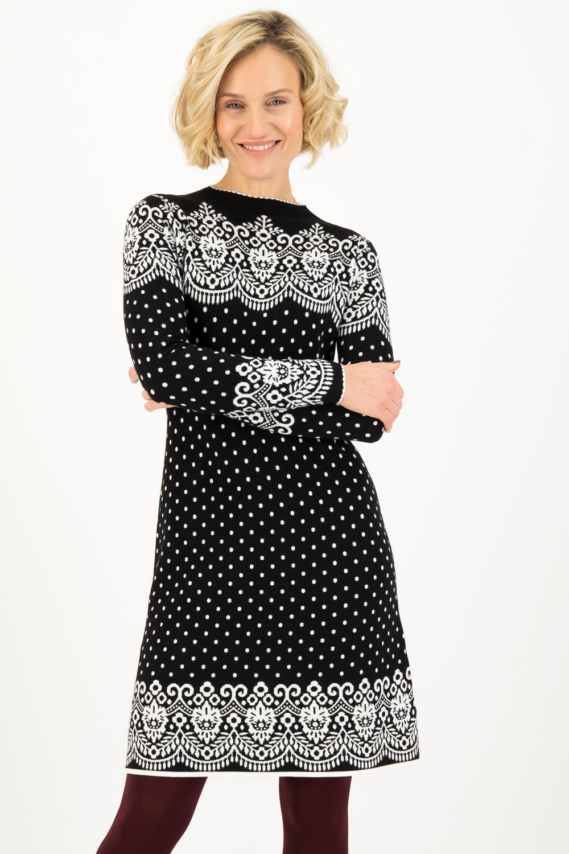 Blutsgeschwister černé zimní šaty Black Betsy