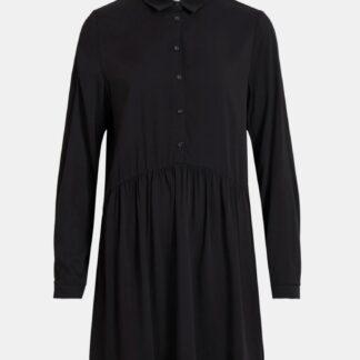 Černé košilové šaty VILA Dania