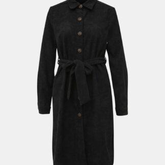 Černé manšestrové košilové šaty Haily´s Marie