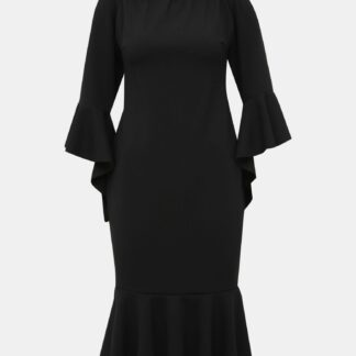 Černé pouzdrové šaty s volány Haily´s Joana