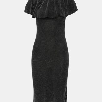 Černé pouzdrové šaty se třpytivým efektem Haily´s Milena