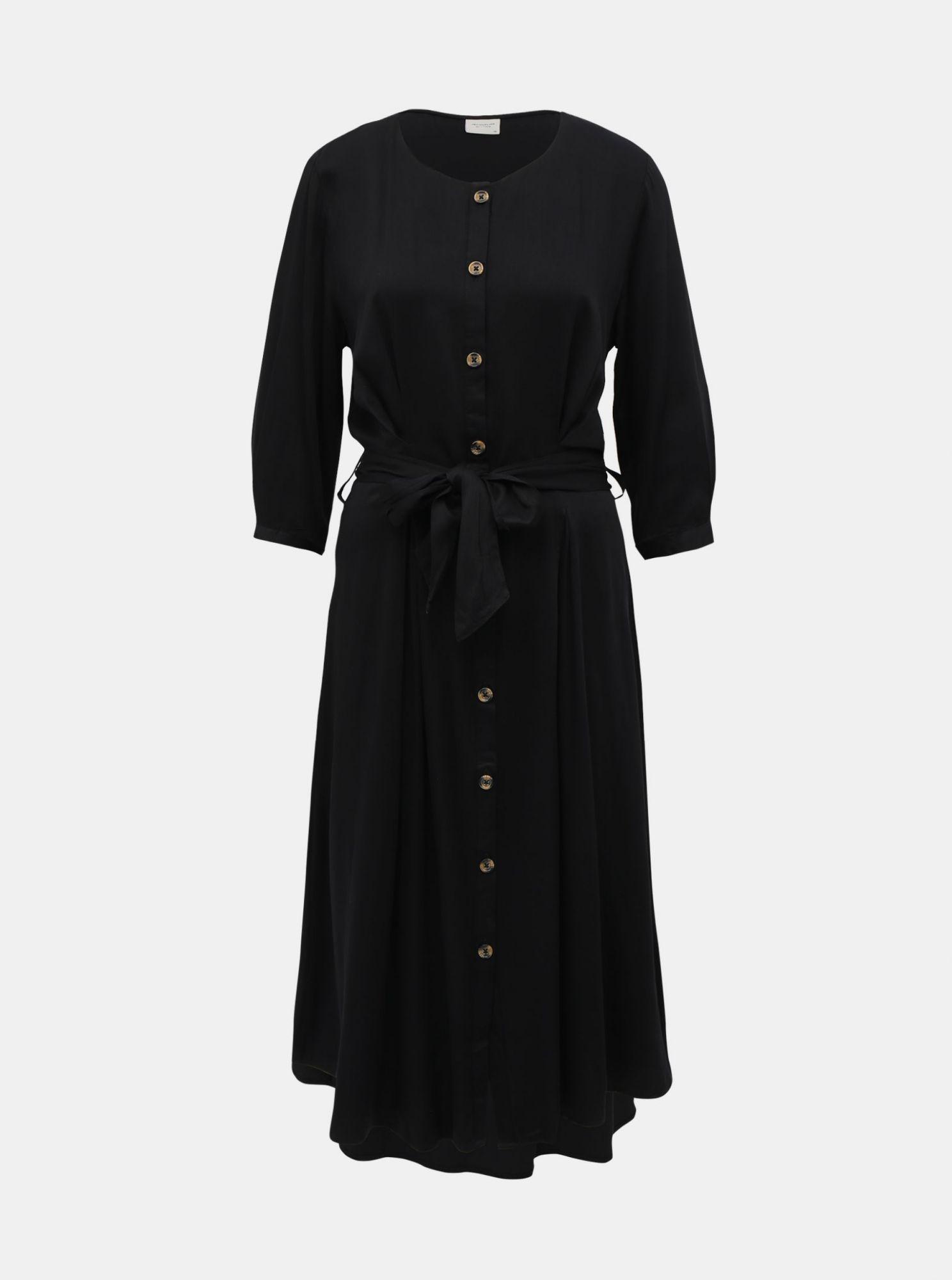 Černé košilové midušaty Jacqueline de Yong Hea