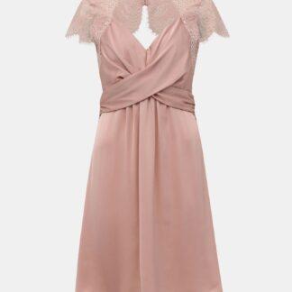 Světle růžové šaty s krajkou VILA Shea
