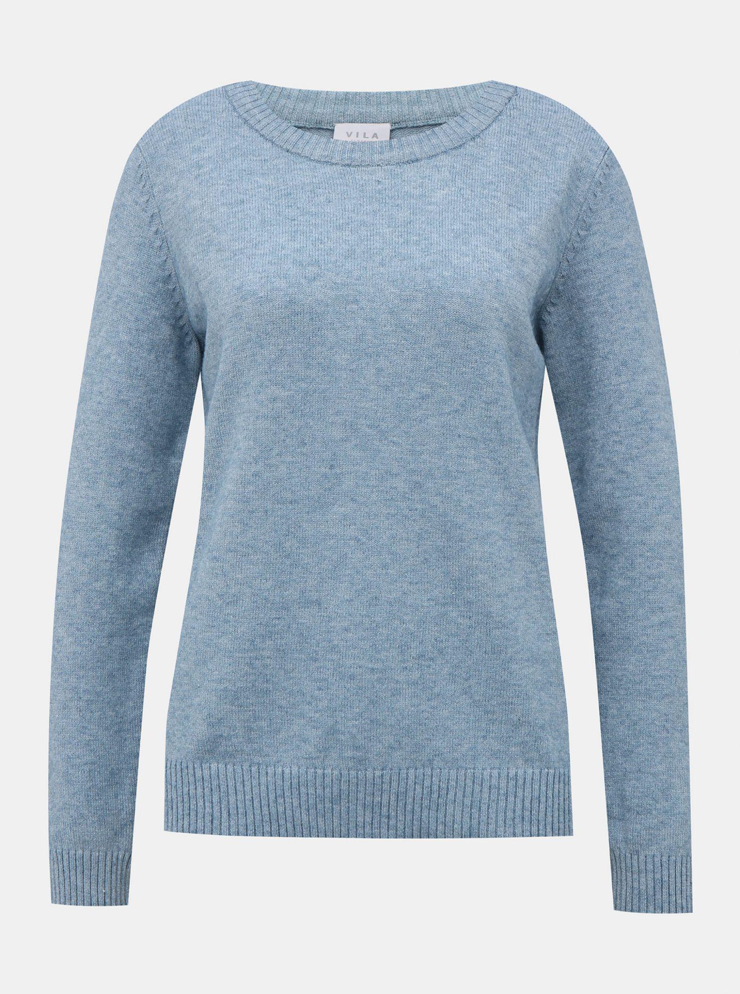 Světle modrý basic svetr VILA Ril