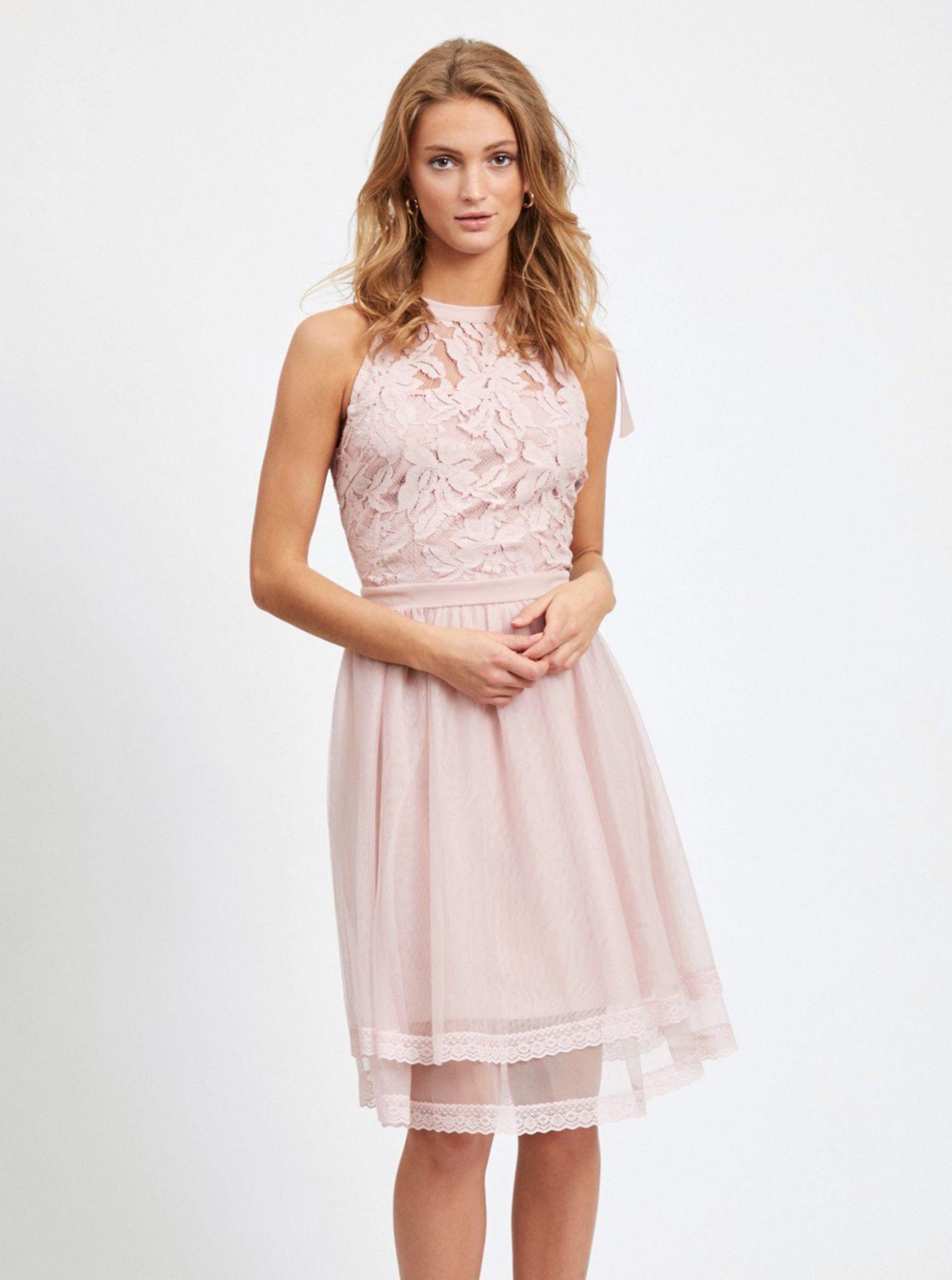 Vila růžové letní šaty Zinna