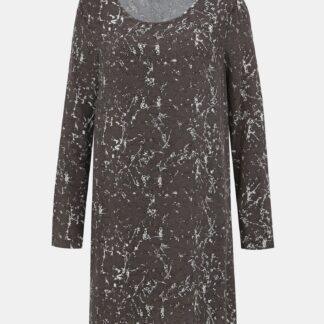 Šedé vzorované šaty VILA Early