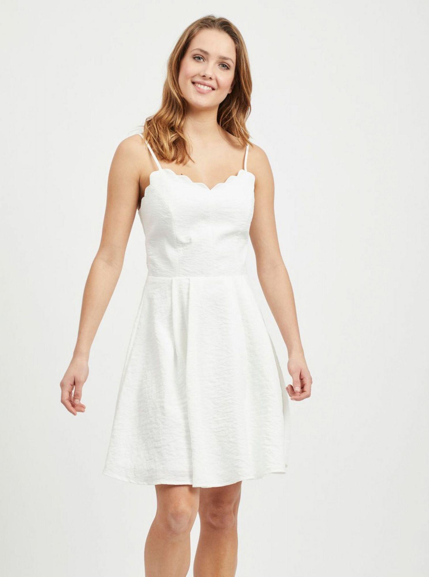 Bílé šaty VILA Linea