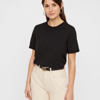 Černé basic tričko Pieces Ria