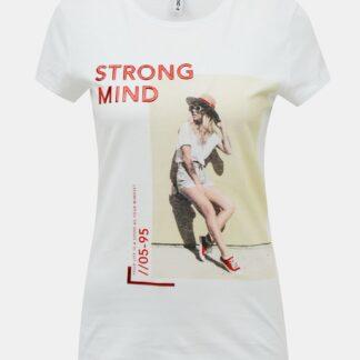 Bílé tričko ONLY Kia