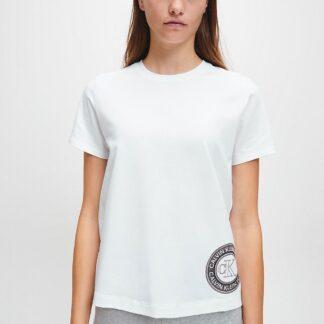 Calvin Klein bílé tričko S/S Crew Neck