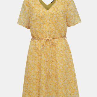 Žluté květované šaty ONLY Tone