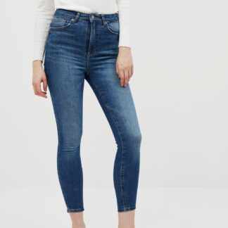 Modré zkrácené skinny fit džíny ONLY Gosh