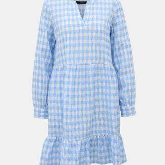 Bílo-modré kostkované šaty VERO MODA Kimi