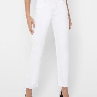 Bílé straight fit džíny ONLY Emily