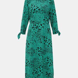 Zelené vzorované midišaty Dorothy Perkins