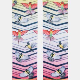 Růžovo-bílé dámské ponožky XPOOOS