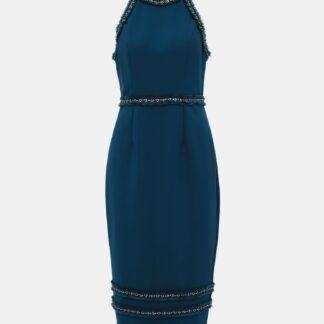 Petrolejové pouzdrové šaty Dorothy Perkins