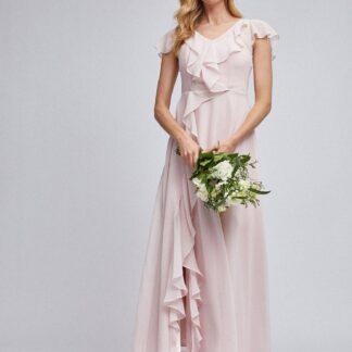 Světle růžové maxi šaty Dorothy Perkins