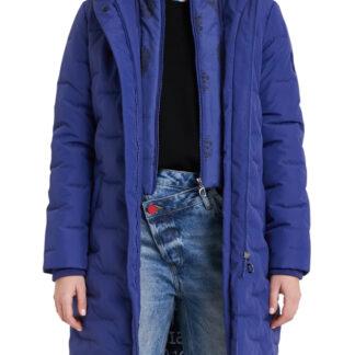 Desigual modrý kabát Padded Anya