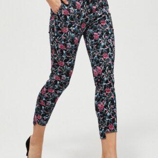 Moodo květinové kalhoty s gumou v pase