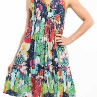 Orientique barevné šaty Abstract Fun s kapsami