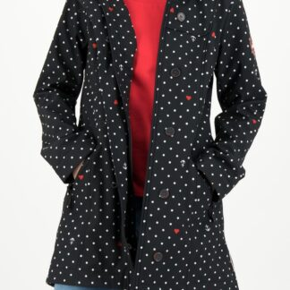 Blutsgeschwister černá bunda Wild Weather Long Anorak Casual Anchor