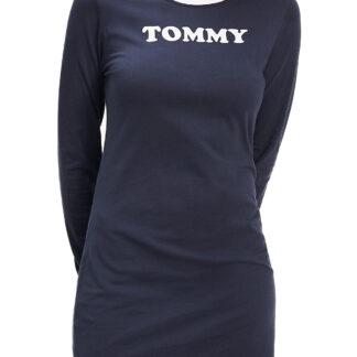Tommy Hilfiger modré šaty Nightdress LS s dlouhým rukávem