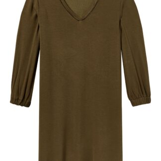 Scotch&Soda hnědé šaty s tříčtvrtečním rukávem