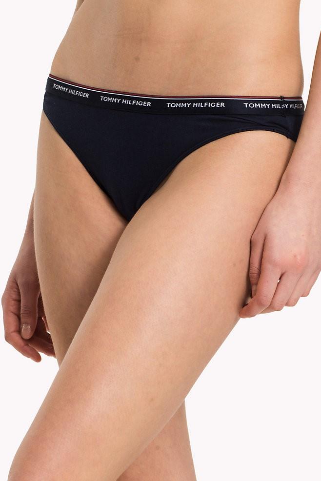 Tommy Hilfiger 3 pack tmavě modrých kalhotek Bikini Basic