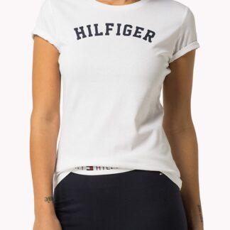 Tommy Hilfiger bílé tričko Tee Print Basic