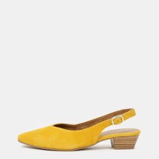 Tamaris žluté semišové baleríny