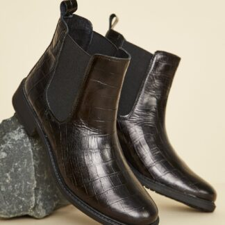 OJJU černé chelsea kožené boty