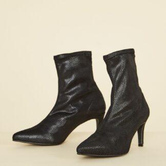 OJJU černé semišové kotníkové boty