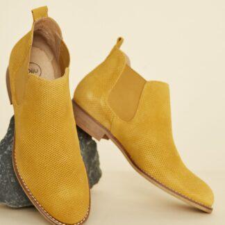 OJJU hnědé semišové chelsea boty
