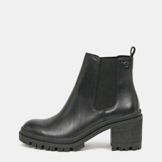 Tamaris černé chelsea kožené boty