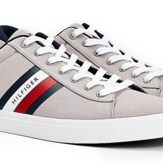 Tommy Hilfiger šedé pánské tenisky Essential Stripes Detail Sneaker