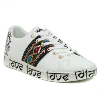 Desigual bílé tenisky Shoes Cosmic Exotic Indian