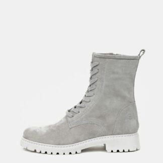 Tamaris šedé semišové kotníkové boty