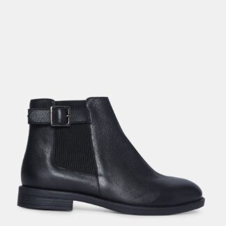 Dorothy Perkins černé kožené chelsea boty