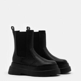 Tally Weijl černé chelsea boty na platformě