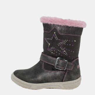 Tmavě šedé holčičí zimní boty Tom Tailor