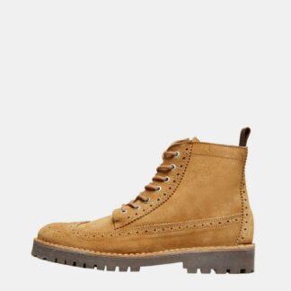 Selected Homme hnědé pánské kotníkové boty Ricky