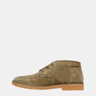 Selected Homme khaki pánské kotníkové boty Royce