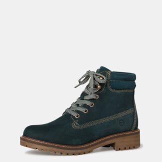 Tamaris petrolejové kožené kotníkové boty