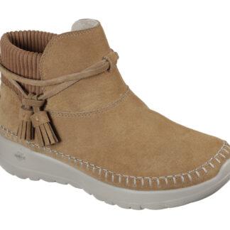 Skechers hnědé kotníkové boty Allure Chestnut