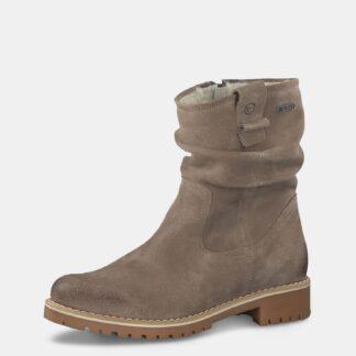 Tamaris béžové kotníkové semišové boty