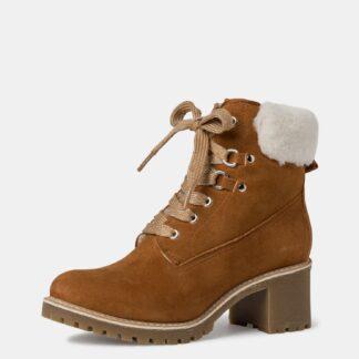 Tamaris hnědé zimní kotníkové boty